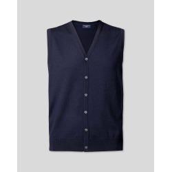 Merino Merino Wool Waistcoat - Navy Size Medium by Charles Tyrwhitt found on Bargain Bro UK from charles tyrwhitt shirts eu