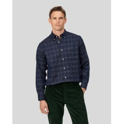 Cotton Classic Fit Soft Washed Non-Iron Twill Navy Grid Check Shirt found on Bargain Bro UK from Charles Tyrwhitt (UK)
