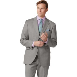 Wool Silver Classic Fit Italian Suit Jacket found on Bargain Bro UK from Charles Tyrwhitt (UK)