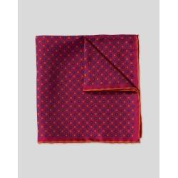 Mini Geometic Print Silk Pocket Square - Berry & Orange Size OSFA by Charles Tyrwhitt found on Bargain Bro UK from charles tyrwhitt shirts eu