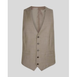 Wool Twill Business Suit Waistcoat - Fawn found on Bargain Bro UK from Charles Tyrwhitt (UK)