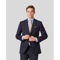 Navy Classic Fit Twill Business Suit Wool Jacket Size 48 by Charles Tyrwhitt found on Bargain Bro India from Charles Tyrwhitt for $299.00