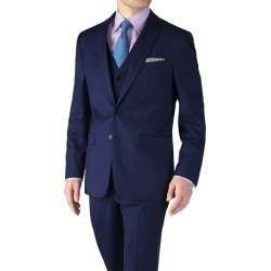 Royal Blue Slim Fit Twill Business Suit Wool Jacket Size 38 Long by Charles Tyrwhitt found on Bargain Bro UK from Charles Tyrwhitt (AU)