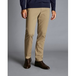 Ultimate Non-Iron Cotton Chino Trousers - Tan Size W32 L30 by Charles Tyrwhitt found on Bargain Bro UK from charles tyrwhitt shirts eu