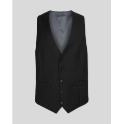 Black Adjustable Fit Twill Business Suit Wool Waistcoat Size w36 by Charles Tyrwhitt found on Bargain Bro Philippines from Charles Tyrwhitt for $110.00