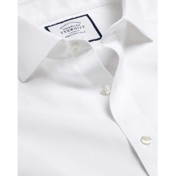 Cutaway Collar Non-Iron Cotton Stretch Formal Shirt - White Single Cuff Size 18/35 by Charles Tyrwhitt found on Bargain Bro UK from charles tyrwhitt shirts eu