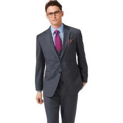 Steel Blue Classic Fit Twill Business Suit Wool Jacket Size 44 by Charles Tyrwhitt found on Bargain Bro India from Charles Tyrwhitt for $299.00