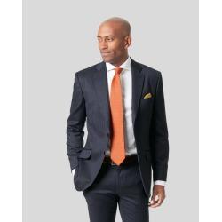 Wool Italian Stripe Suit Jacket - Dark Blue found on Bargain Bro UK from Charles Tyrwhitt (UK)