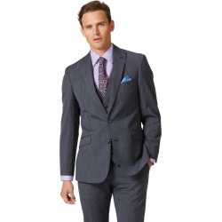 Wool Airforce Blue Check Slim Fit Twist Business Suit Jacket found on Bargain Bro UK from Charles Tyrwhitt (UK)