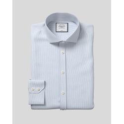 Cutaway Collar Non-Iron Cotton Stretch Shirt - Sky found on Bargain Bro UK from Charles Tyrwhitt (UK)