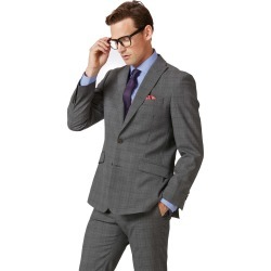 Wool Light Grey Check Slim Fit Twist Business Suit Jacket found on Bargain Bro UK from Charles Tyrwhitt (UK)