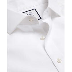 Cutaway Collar Non-Iron Poplin Cotton Formal Shirt - White Single Cuff Size 14/33 by Charles Tyrwhitt found on Bargain Bro UK from charles tyrwhitt shirts eu