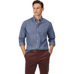 Cotton Classic Fit Soft Washed Stretch Poplin Navy Paisely Shirt found on Bargain Bro UK from Charles Tyrwhitt (UK)