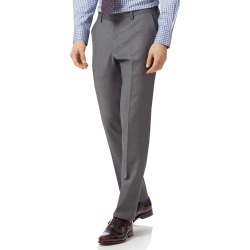 Grey Slim Fit Twill Business Suit Wool Pants Size W36 L32 by Charles Tyrwhitt found on Bargain Bro India from Charles Tyrwhitt for $70.00