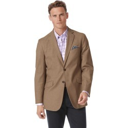 Classic Fit Tan Textured Stretch Cotton Jacket Size 40 Regular by Charles Tyrwhitt found on Bargain Bro UK from Charles Tyrwhitt (AU)