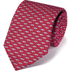 Shark Silk Print Classic Tie - Red found on Bargain Bro UK from Charles Tyrwhitt (UK)