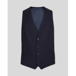 Wool Twill Business Suit Waistcoat - Navy found on Bargain Bro UK from Charles Tyrwhitt (UK)
