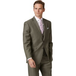 Olive Classic Fit Twill Business Suit Wool Jacket Size 40 by Charles Tyrwhitt found on Bargain Bro India from Charles Tyrwhitt for $299.00
