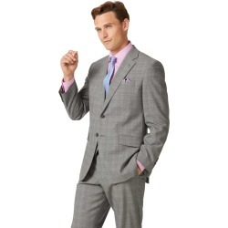 Wool Grey Prince Of Wales Classic Fit Panama Business Suit Jacket found on Bargain Bro UK from Charles Tyrwhitt (UK)