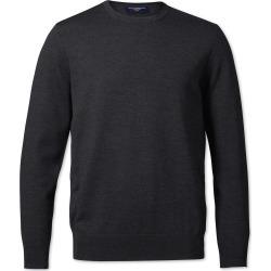 Merino Crew Neck Wool Jumper - Dark Charcoal Size XXL by Charles Tyrwhitt found on Bargain Bro UK from charles tyrwhitt shirts eu