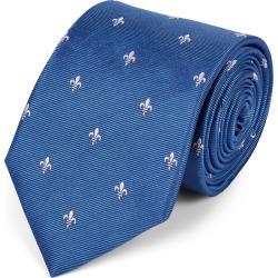 Silk Fleur-De-Lys Stain Resistant Classic Tie - Blue & White Size OSFA by Charles Tyrwhitt found on Bargain Bro UK from charles tyrwhitt shirts eu