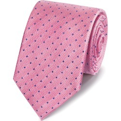 Silk Spot Stain Resistant Classic Tie - Pink & Blue Size OSFA by Charles Tyrwhitt found on Bargain Bro UK from charles tyrwhitt shirts eu