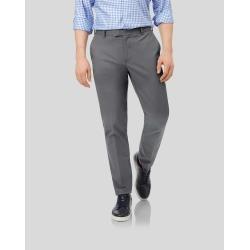Smart Non-Iron Cotton Chino Trousers - Grey Size W32 L38 by Charles Tyrwhitt found on Bargain Bro UK from charles tyrwhitt shirts eu