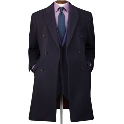Navy Italian Wool and Cashmere Double Breasted Epsom OverWool/cashmere coat Size 44 by Charles Tyrwhitt found on Bargain Bro India from Charles Tyrwhitt for $399.00