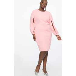 Slit Sleeve Work Dress - Carnation found on MODAPINS from Eloquii for USD $79.95