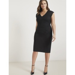 Premier Work Dress with Piping - Totally Black found on MODAPINS from Eloquii for USD $89.95