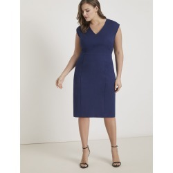 Premier Work Dress with Piping - Maritime Blue found on MODAPINS from Eloquii for USD $89.95