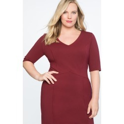 9-to-5 Stretch Work Dress - Cabernet found on MODAPINS from Eloquii for USD $54.95