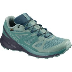 Salomon Women's Sense Ride Gtx Invisible Fit Waterproof Trail Running Shoes - Size 7 found on Bargain Bro Philippines from Eastern Mountain Sports for $124.98