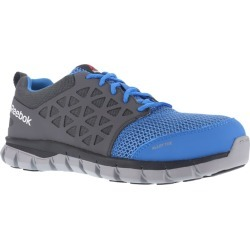 Reebok Work Men's Sublite Cushion Work Alloy Toe Work Shoes, Blue/ Grey, Wide