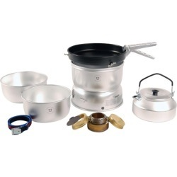 Trangia 25-4 Ultralight Non-Stick Alcohol Stove Kit With A Kettle And Windshields