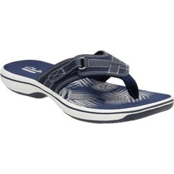 Clarks Women's Breeze Sea Flip-Flops, Navy - Size 6 found on Bargain Bro India from Eastern Mountain Sports for $49.99