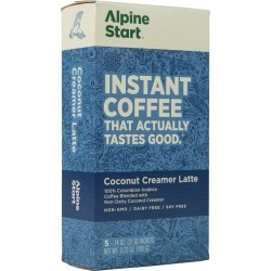 Alpine Start Instant Coffee, Non-Dairy Coconut Creamer Latte