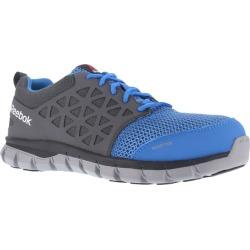 Reebok Work Women's Sublite Cushion Work Alloy Toe Work Shoes, Blue/ Grey, Wide