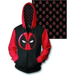 Deadpool Logo Previews Exclusive Zip-Up Hoodie found on Bargain Bro India from entertainmentearth.com for $60.99