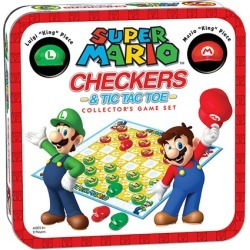 Super Mario Edition Checkers and Tic-Tac-Toe Game found on GamingScroll.com from entertainmentearth.com for $19.99