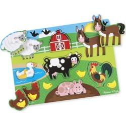 Melissa & Doug Farm 8-Piece Peg Puzzle
