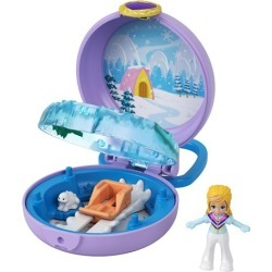 Polly Pocket Polly Snow Cabin Compact found on Bargain Bro from entertainmentearth.com for USD $3.79