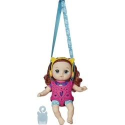 Baby Alive Carry n Go Squad Zoe Curly Red Hair Doll