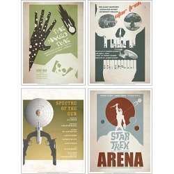 Star Trek The Original Series Fine Art Posters Set 5