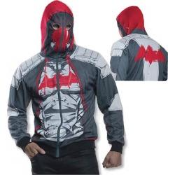 Batman Arkham Knight Red Hood Zip-Up Hooded Costume