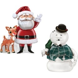 Rudolph Santa and Sam the Snowman Salt and Pepper Set found on GamingScroll.com from entertainmentearth.com for $19.99