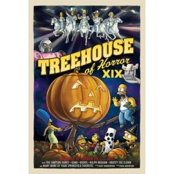 The Simpsons Treehouse of Horror XIX Canvas Giclee Print