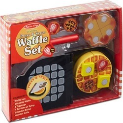 Press and Serve Waffle Set Wooden Playset