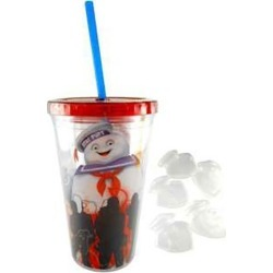 Ghostbusters Stay Puft Tumbler with Ice Cubes found on Bargain Bro from entertainmentearth.com for USD $9.87