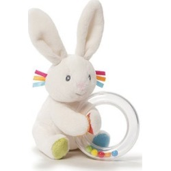 Flora Bunny 5-Inch Plush Rattle